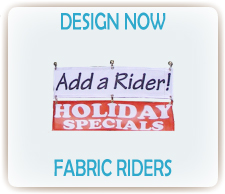 custom fabric sign riders