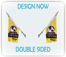 custom double sided open flag