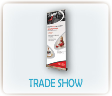 Design custom printed trade show materials online